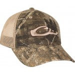 Drake 6 Panel Camo Mesh Back Cap Realtree Timber